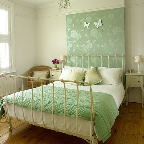 Neutral-and-green-bedroom