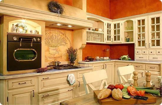 прованс мебель на кухне